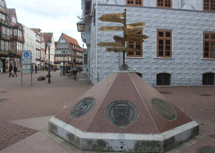 The old city hall square, Celle, Germany