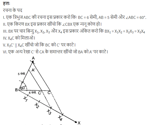 NCERT Books Solutions For Class 10 Maths Hindi Medium Constructions Ex 11.1 Q5