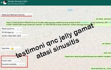 testimoni qnc jelly gamat atasi sinusiits