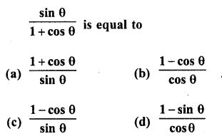 RD Sharma Class 10 Solutions Chapter 11 Trigonometric Identities MCQS - 7