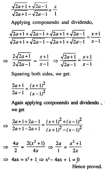 Selina Concise Mathematics Class 10 ICSE Solutions Chapterwise Revision Exercise 34A