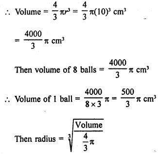 RD Sharma Class 9 Solutions Chapter 21 Surface Areas and Volume of a Sphere MCQS 9