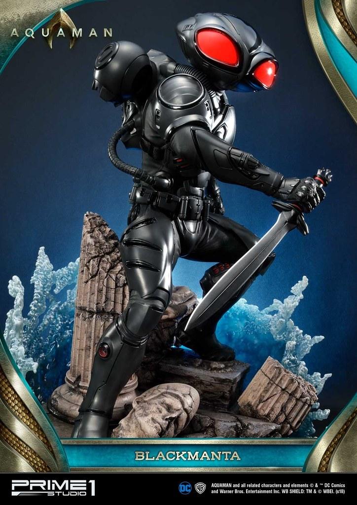 黑蝠鱝!超魄力的備戰姿態,水行俠宿敵威壓現身! Prime 1 Studio《水行俠》黑蝠鱝 ブラックマンタ MMAM-02EX 1/3 ...