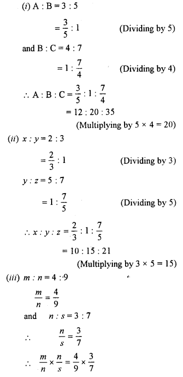 Selina Concise Mathematics class 7 ICSE Solutions - Ratio and Proportion (Including Sharing in a Ratio) -b5....