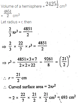 ML Aggarwal Class 10 Solutions for ICSE Maths Chapter 18 Mensuration Chapter Test 6