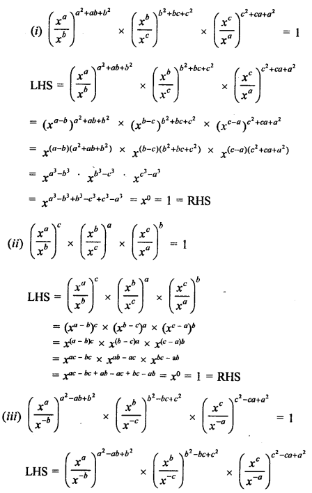 RD Sharma Class 9 Solutions Chapter 2 Exponents of Real Numbers Ex 2.1 - 3a