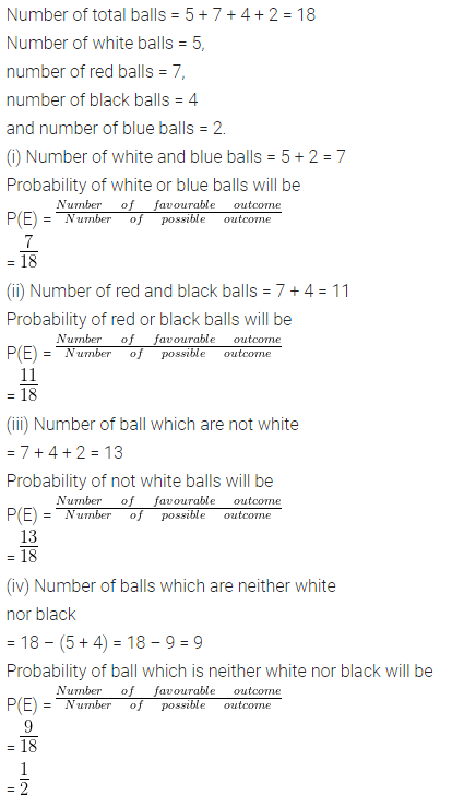 ML Aggarwal Class 10 Solutions for ICSE Maths Chapter 24 Probability Chapter Test 7