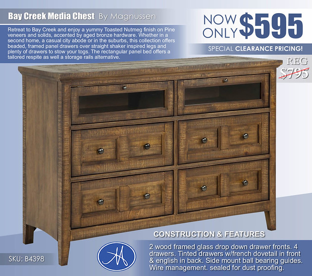 Bay Creek Media Chest_Clearance B4398