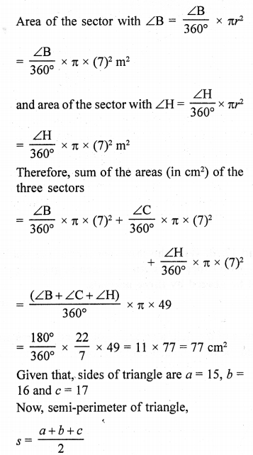 RD Sharma Class 10 Solutions Chapter 13 Areas Related to Circles Ex 13.4 - 51aa