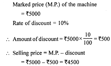 Selina Concise Mathematics class 7 ICSE Solutions - Profit, Loss and Discount-c1