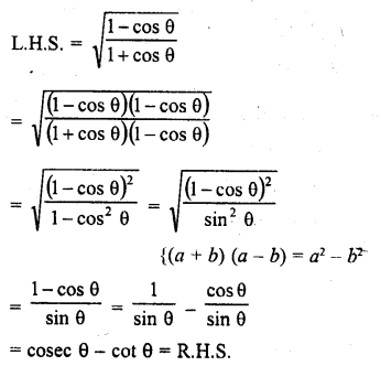 RD Sharma Class 10 Solution Chapter 6 Trigonometric Identities