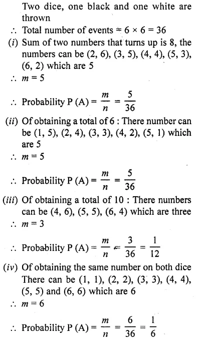 Class 10 RD Sharma Chapter 13 Probability