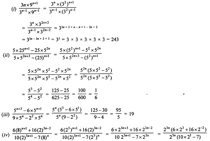 RD Sharma Class 9 Solutions Chapter 2 Exponents of Real Numbers Ex 2.1 - 7a