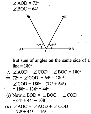 Selina Concise Mathematics Class 6 ICSE Solutions - Angles (With their Types) -r12