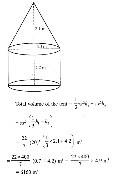 RD Sharma Class 10 Solutions Chapter 14 Surface Areas and Volumes Ex 14.2 8