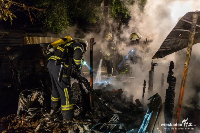 Gartenhüttenbrand Bierstadt 29.09.18