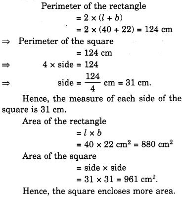 NCERT Solutions for Class 7 Maths Chapter 11 Perimeter and Area 9