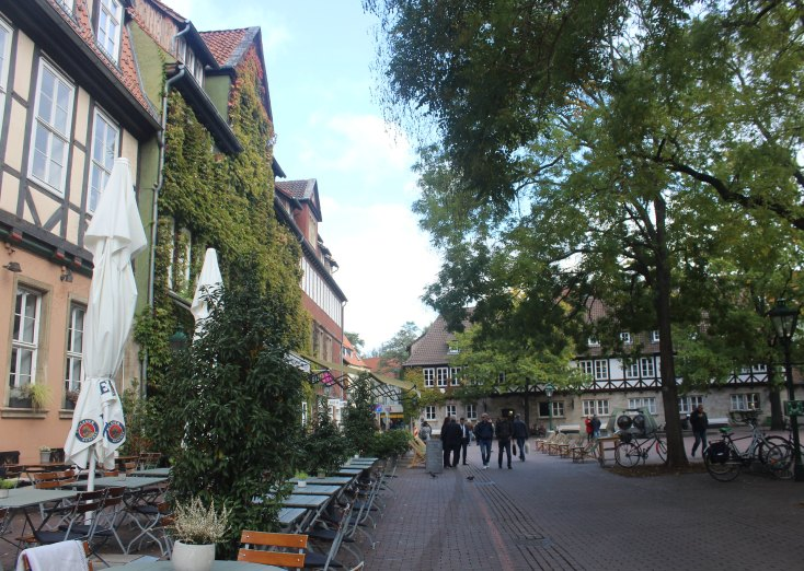 The square of the oldest gymnasium of Hanover, Germany