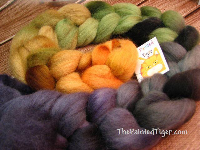 Great Pumpkin - Sept 2018 Tiger Club - Shetland Wool Top