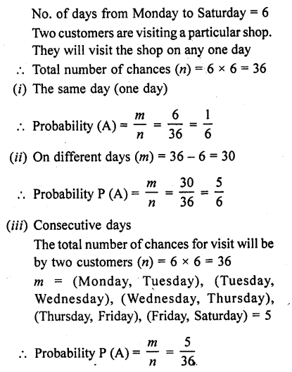 RD Sharma Class 10 Solutions Chapter 16 Probability Ex 16.1 72