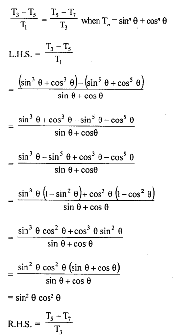 RD Sharma Class 10 Solutions Chapter 11 Trigonometric Identities Ex 11.1 - 62a