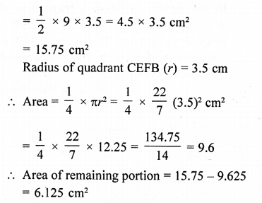 RD Sharma Class 10 Solutions Chapter 13 Areas Related to Circles Ex 13.4 - 49a