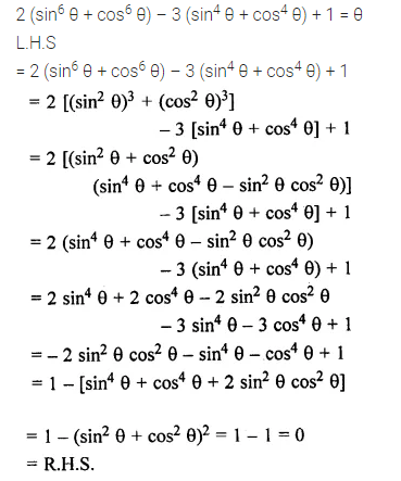 ML Aggarwal Class 10 Solutions for ICSE Maths Chapter 19 Trigonometric Identities Chapter Test 11