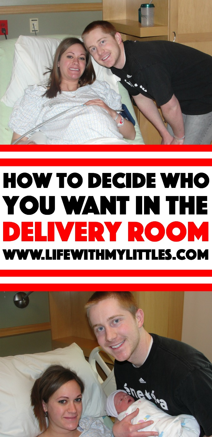 Not sure how to decide who you want in the delivery room when your baby is born? It's a tough decision, especially if you're feeling pressured by family members! Here are some tips to help you make the decision that's right for you!