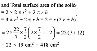 ML Aggarwal Class 10 Solutions for ICSE Maths Chapter 18 Mensuration Chapter Test 9a
