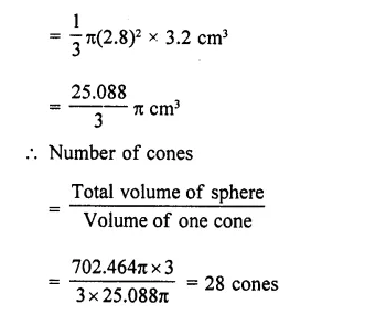 RD Sharma Class 10 Solutions Chapter 14 Surface Areas and Volumes Ex 14.1 22a