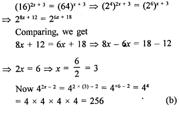 RD Sharma Class 9 Solutions Chapter 2 Exponents of Real Numbers MCQS - 33
