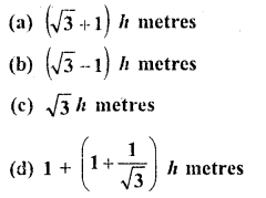 RD Sharma Class 10 Solutions Chapter 12 Heights and Distances MCQS - 6