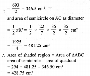 RD Sharma Class 10 Solutions Chapter 13 Areas Related to Circles Ex 13.4 - 40aa