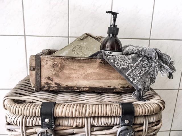 Mand badkamer tissuedoos landelijk handzeep Action