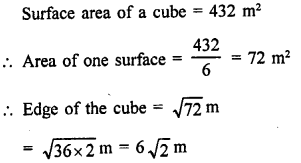 RD Sharma Class 9 Solution Chapter 18 Surface Areas and Volume of a Cuboid and Cube