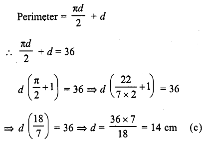 RD Sharma Class 10 Solutions Chapter 13 Areas Related to Circles MCQS -20