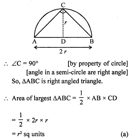 RD Sharma Class 10 Solutions Chapter 13 Areas Related to Circles MCQS -49a
