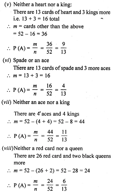 RD Sharma Class 10 Solutions Chapter 16 Probability Ex 16.1 6A