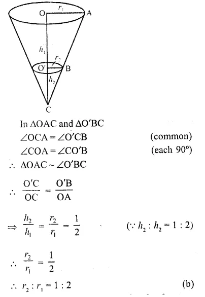 RD Sharma Class 10 Solutions Chapter 14 Surface Areas and Volumes MCQS 35