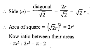 RD Sharma Class 10 Solutions Chapter 13 Areas Related to Circles VSAQS - 8a