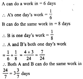 Selina Concise Mathematics class 7 ICSE Solutions - Unitary Method (Including Time and Work)-c1