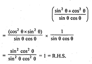 ML Aggarwal Class 10 Solutions for ICSE Maths Chapter 19 Trigonometric Identities Chapter Test 5a
