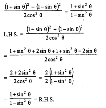 RD Sharma Class 10 Solutions Chapter 11 Trigonometric Identities Ex 11.1 - 27A