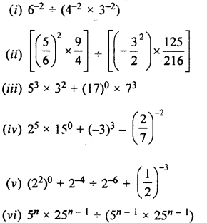 Selina Concise Maths class 7 ICSE Solutions - Exponents (Including Laws of Exponents)-5b