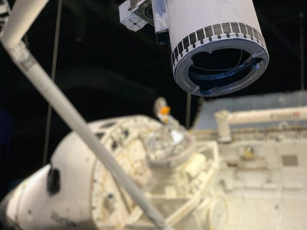 Shuttle robot arm close up