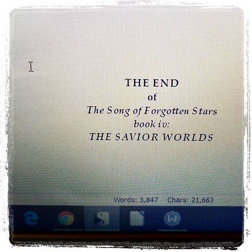 THE DRAFT IS DONE!!! #amwriting #writersofinstagram #sciencefiction #spaceopera #forgottenstars #ahhh #huzzah #woot