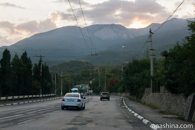 Дорога из Алушты в Ялту, Крым