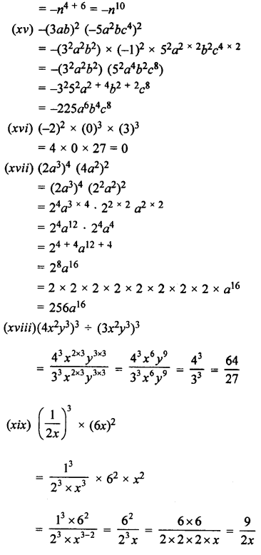 Selina Concise Maths class 7 ICSE Solutions - Exponents (Including Laws of Exponents)-3b.......