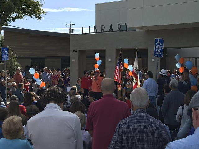 the library opening in Brentwood