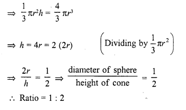 RD Sharma Class 10 Solutions Chapter 14 Surface Areas and Volumes  VSAQS 3